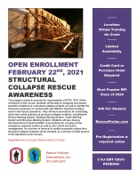 Structural Collapse Rescue Awareness - Virtual Open Enrollment